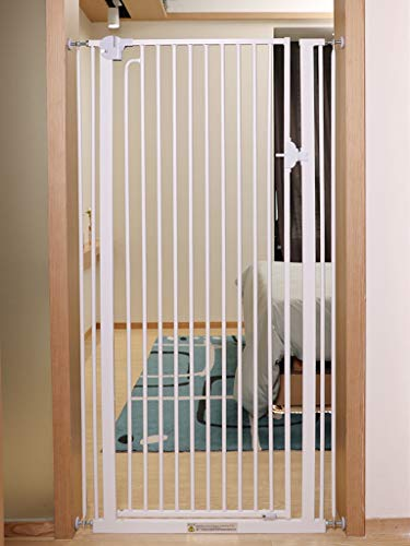 Porte De Clôture for Animaux De Compagnie/Barrière for Animaux De Compagnie for Chiens Chats Extra Haute Intérieur Couvert De Chien De Garde-Corps for Chiens (Size : Width 86-90cm)