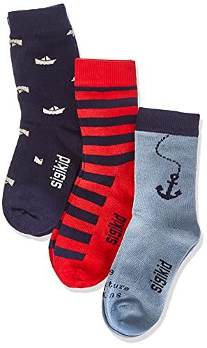 Sigikid Baby-Jungen 3er Pack Socken-Set aus Bio-Baumwolle für Kinder