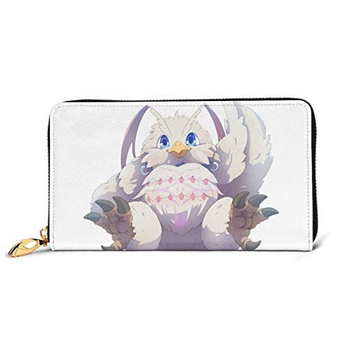 IUBBKI The Rising of TheHero Anime Junior Leather Zip Wallet,Cartoon Cool Leather Craft Personalized Custom Wallet