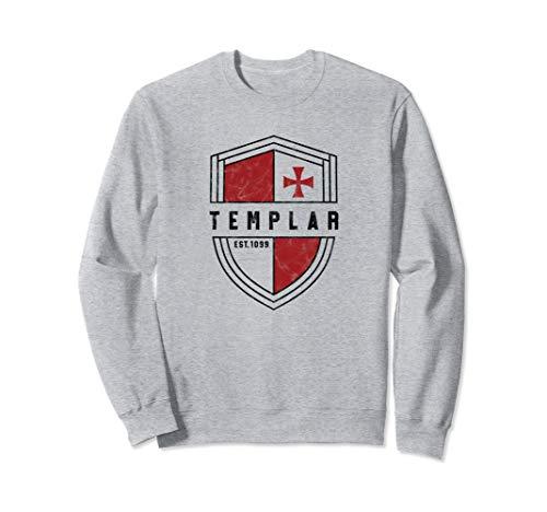 Knights Templar Cross and Shield Vintage Medieval Crusader Sweatshirt