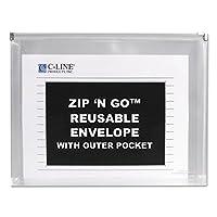 cli48117–レターサイズZip N Go Expandingポートフォリオと外側ポケット