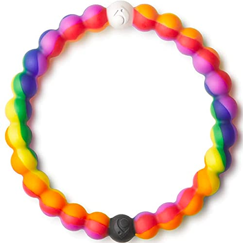 Lokai Pride Cause Collection Rainbow Pride Silicone Beaded Bracelet, Small, 6'