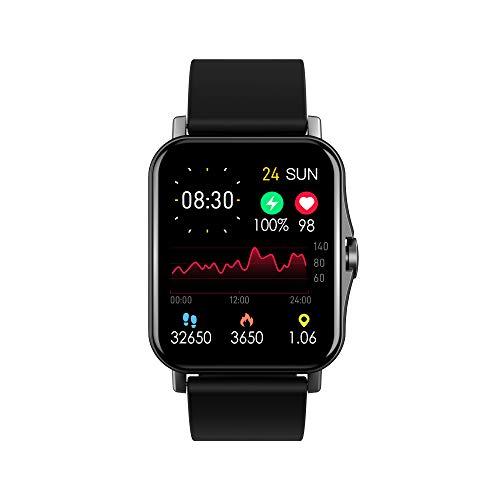 Reloj inteligente ZW23 para hombres y mujeres, monitor de frecuencia cardíaca, podómetro, contador de calorías, IP67, impermeable, con pantalla HD de 1.7 pulgadas, regalo cálido