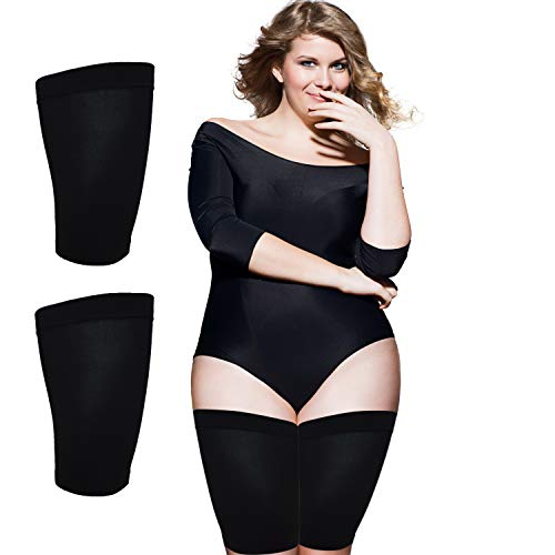 Thigh Slimmer Shapers For Women - Thigh Compression Sleeve To Help Tone Thighs - Slimming Thigh Wraps For Flabby Thighs - Helps Shape Upper Thighs Ideal Slimming Thigh Weight Loss - ( Black )