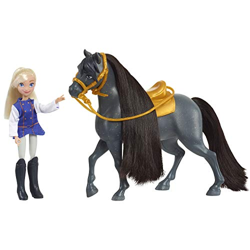DreamWorks Spirit Riding Free Collector Doll & Horse, Bebe & Sarge