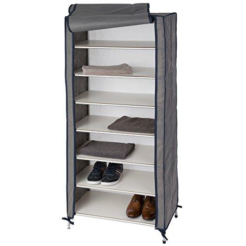Siehe Beschreibung Aluminium Campingschrank Cadiz mit 6 Einlegeböden 65 x 144 cm: Mehrzweckschrank Faltschrank Schuhschrank Zeltschrank Schrank Universalschrank