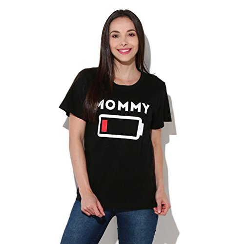 LUCKDE Familien Kleidung, Mama Tochter Daddy Sohn Partnerlook Crop Top Pullover Sweatshirt Bluse Oberteile Partnerlook Familie T-Shirts Matching Outfits Matching Shirts Kleidung (S, Mommy)
