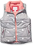 Amazon Essentials Girls' Little Heavy-Weight Puffer Vest, Heather Grey with White Hearts, X-Small