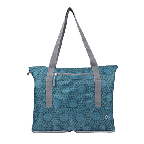 Travelon Folding Packable Tote Sling, Mosaic Tile, One Size