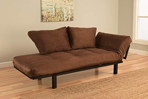 Best Futon Lounger - Mattress ONLY - Sit Lounge Sleep - Small Furniture for College Dorm, Bedroom Studio Apartment Guest Room Covered Patio Porch (Brown)