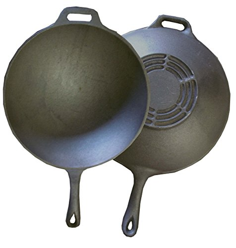 WFS 13' Cast Iron Wok with Handle