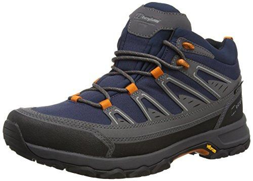 Berghaus Explorer Active, Chaussures de Randonnée Hautes Homme, Multicolore (Navy/orange Y40), 40.5 EU