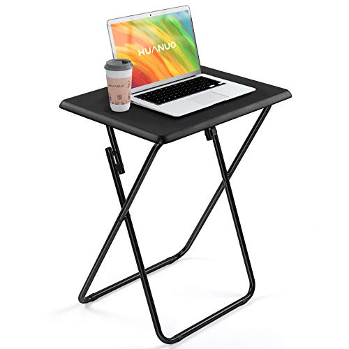HUANUO Folding TV Tray Table Stable Tray Table with No Assembly Required TV Dinner Tray for Eating Foldable Snack Tables for Bed amp Sofa Home amp Office Use