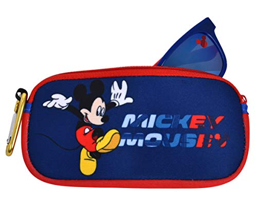 Mickey Mouse Kids Sunglasses with Kids Glasses Case, Protective Toddler Sunglasses