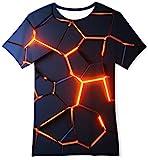 Goodstoworld Lava T Shirt Bambina Maglietta Bambino Lava Rossa Stampa 3D Manica Corta Raga...