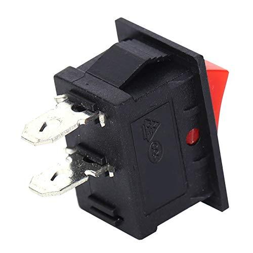 Práctico y duradero interruptor de 2 clavijas, interruptor de 2 posiciones, resistencia al calor para equipos industriales domésticos Equipo eléctrico doméstico