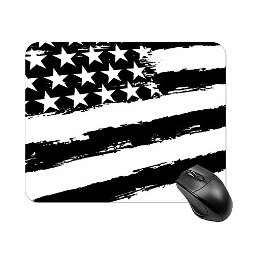 USA Flag in Grunge Mouse Pad Rubber Based Mousepad Non-Slip Mouse Mat Stitched Edge Thick Mousemat 20x25cm Gaming Office Desk Decor Mouse Pads for Computers Laptop