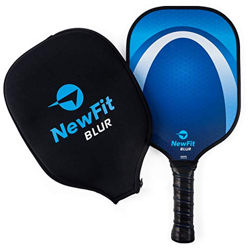 NewFit Blur Pickleball Paddles - USAPA Approved Premium Pickleball Paddles - Graphite Face & Honeycomb Polymer Core for a Quiet and Light Pickleball Racket