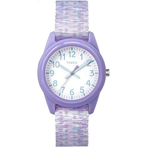 Timex Girls TW7C12200 Time Machines Purple/White Sport Elastic Fabric Strap Watch