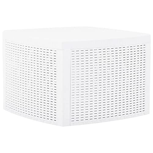 vidaXL Tavolino Bianco 54x54x36,5 cm in Plastica