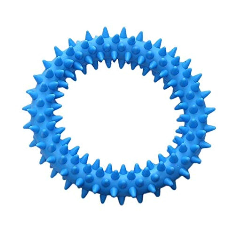害虫構成員脱走YMXMY 歯玩具増加を清掃リング玩具犬ソフトラバーモル玩具ペットの咬傷を噛み犬 (Color : Type 1 Blue)