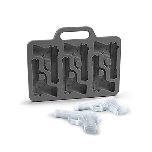 GOODS+GADGETS 3D Eiswürfelform Pistole Eiswürfelbereiter Eiswürfelbehälter Form für 6 Pistolen Eiswürfel