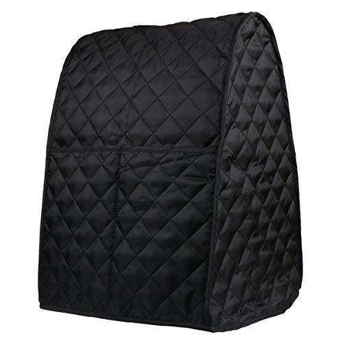 Evermarket Ständer-Mischer-Abdeckung mit Tasche und Organizer-Tasche für Küchenhelfer, Sonnenstrahl, Cuisinart, Hamilton-Mixer Schwarz