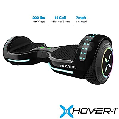Hover-1 Origin Hoverboard Electric Scooter, Bluetooth Speakers, Color Changing Fender and LED Lights