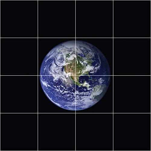 Motivdecken – Designdecken für Kassettendecken – Bedruckte Abhängedecken - Deckenbild für Rasterdecken z.B. OWA Mineralfaser Platten, Knauf AMF, Armstrong Decken Deckenpaneel Planet