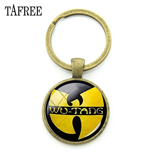 Key Chains - WU Tang Clan Keychains New York Hip-HOP Rap Band Key Chains Key Rings Antique Bronze Plated Music Fans Jewelry Gifts WT07 - by ptk12-1 PCs