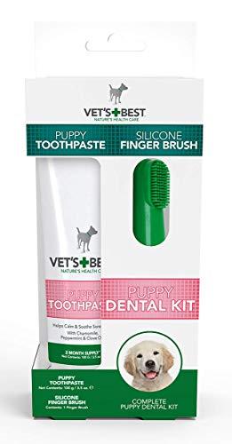 Vet's Best Pasta de dientes para cachorros, limpieza de dientes y gel de cuidado dental de aliento fresco, dentición 100g
