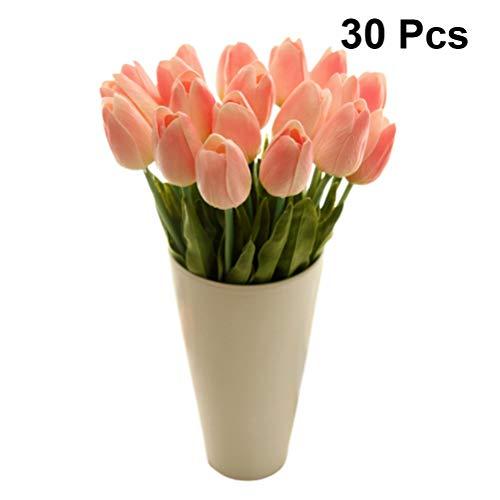 LIOOBO 30pcs künstliche Tulpe Blumen aus Seide Tulpe Blume gefälschte Blume faux Tulpe Strauß Blumen für Zuhause Hochzeitsdeko Fertigkeit DIY