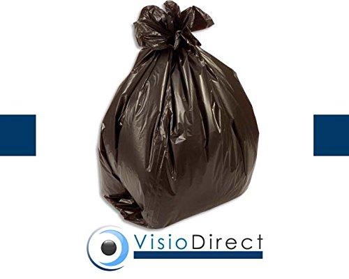 Boîte de 500 Sacs-poubelle, 50 litres, noir, 14 microns