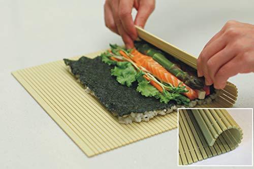 PAT & DORIS Non Stick Sushi Mat, Plastic sushi Rolling Mat...