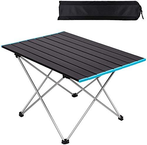 Mesa de picnic al aire libre Mesa de camping plegable, mesa de aleación de aluminio ligero, mesa de picnic plegable portátil con bolsa de transporte, mesa de comedor al aire libre para jardín Patio BB