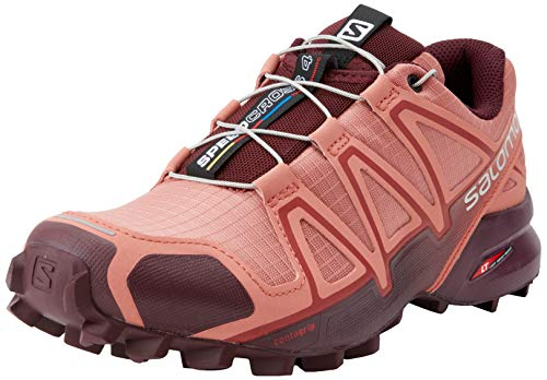 Salomon Speedcross 4 W, Zapatillas de Trail Running para Mujer, Rojo (Brick Dust/Winetasting/Apple Butter), 37 1/3 EU