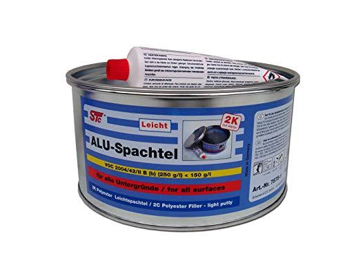 STC Aluminiumspachtel 1,5 kg Aluspachtel Alu Leichtspachtel Metall Spachtelmasse inkl. Härter