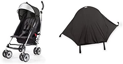 Summer Infant 3Dlite Convenience Stroller, Black & Summer Infant Rayshade Stroller Cover