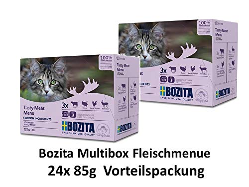 Bozita Multibox Fleisch-Menü | 24 x 85g Vorteilspackung