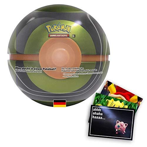 Lively Moments Pokemon Karten Tin Box Pokeball Finsterball DE und Exklusive GRATIS Grußkarte