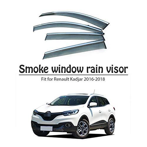 CGDD Windabweiser Für Renault Kadjar 2016 2017 2018 Seitenfenster-Visiere Wind-Deflektoren Fenster Regenvisier Rauchabzug Schatten