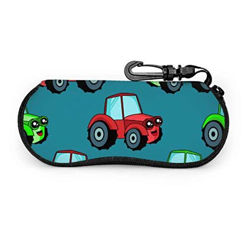 Cartoon Animation Retro Spielzeug Traktor schlanke Brillenetui Mädchen Brillenetui Licht tragbare Neopren Reißverschluss Soft Case Kinder Brillenetui