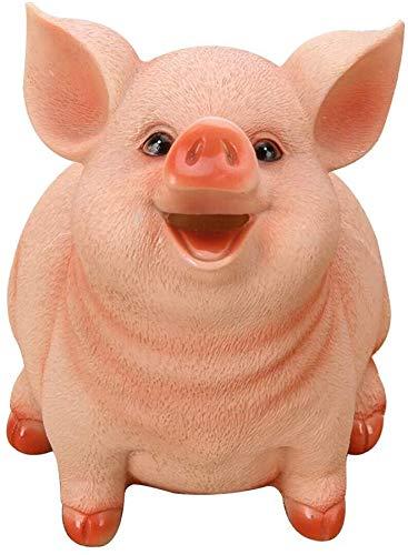zyh Alcancía Que no se Puede Abrir,Bonita Caja de Dinero con Forma de Cerdo,pequeño contenedor de Ahorro de Efectivo de Resina para niños y niñas