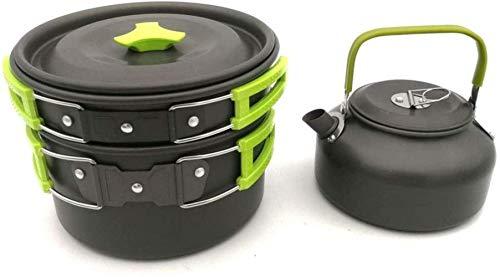 XHLLX Set De Utensilios De Cocina para Acampar Camping Pot Boiler Utensilios De Utensilios Utensilios Insectos out out Aire Libre