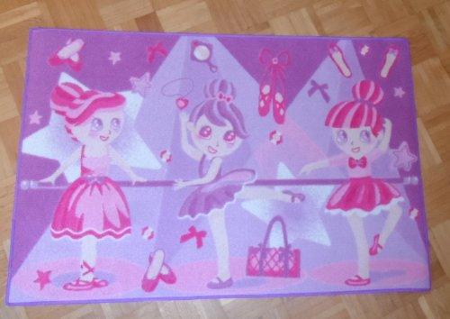 Associated Weavers bambini tappeto tappeto bambini tappeto gioco tappeto Girls 12Ballerine 80x 120cm un must per ogni fan di Balletto non può mancare in cameretta assenza