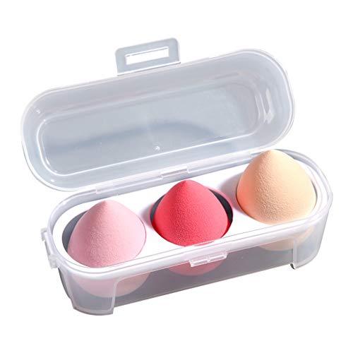 Licuadora de Esponja de Maquillaje, Huevo de Maquillaje, 3 Tipos Diferentes de Licuadora de Belleza, Licuadora de Doble Propósito para Corrector / Base Líquida / Polvos Sueltos / Polvos Sueltos