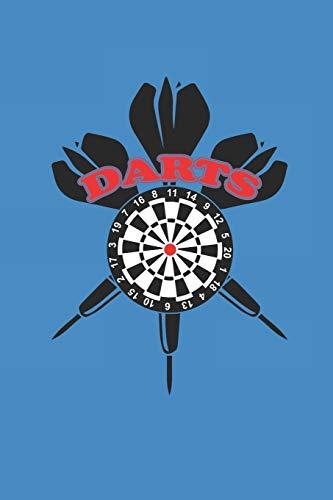 DARTS: NOTIZBUCH Dart Journal Darts Notebook 6x9 kariert squared