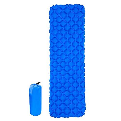 Esterilla Camping,Esterilla Hinchable Viajes Cama plegable almohadilla para dormir Tienda impermeable Camping Air Mat Inflable Senderismo Portátil Viaje Pad de dormir ultraligera ( Color : Blue )
