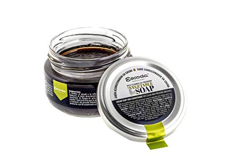 ESCODA Jabon Acondicionador Crema Pinceles - Alta Protección entre Usos Artesano Fabricado en España Acuarela Óleo Acrílico Pintura Maquillaje Natural 100 gr