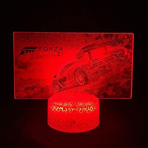 Forza Horizon 4 3D LED Lámpara de ilusión de juego caliente Luz nocturna actualizada al lado y tabla gráfica para regalos de cumpleaños de Navidad para niños (Forza Horizon 4)